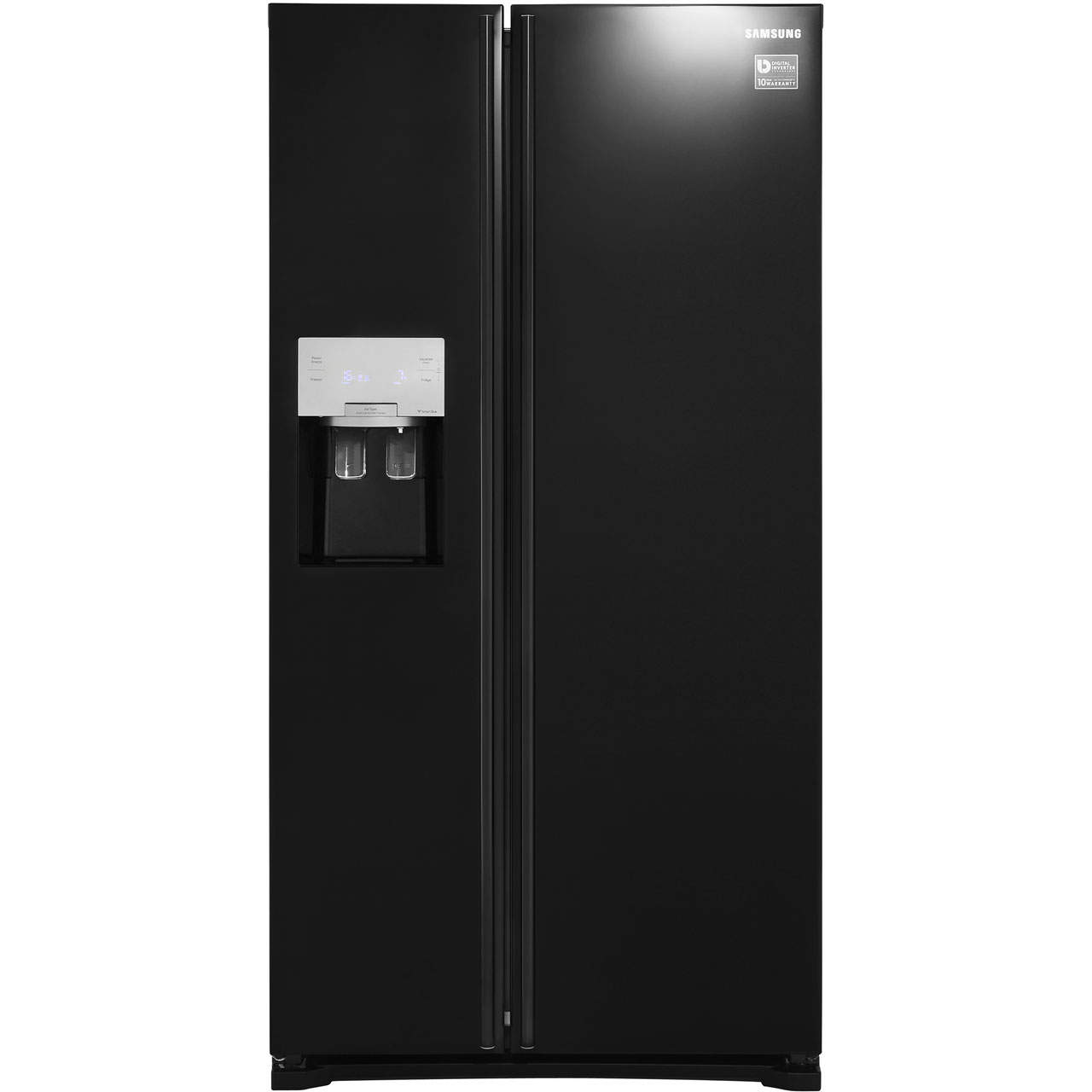 Samsung HSeries RS7567BHCBC Free Standing American Fridge Freezer in Black Gloss
