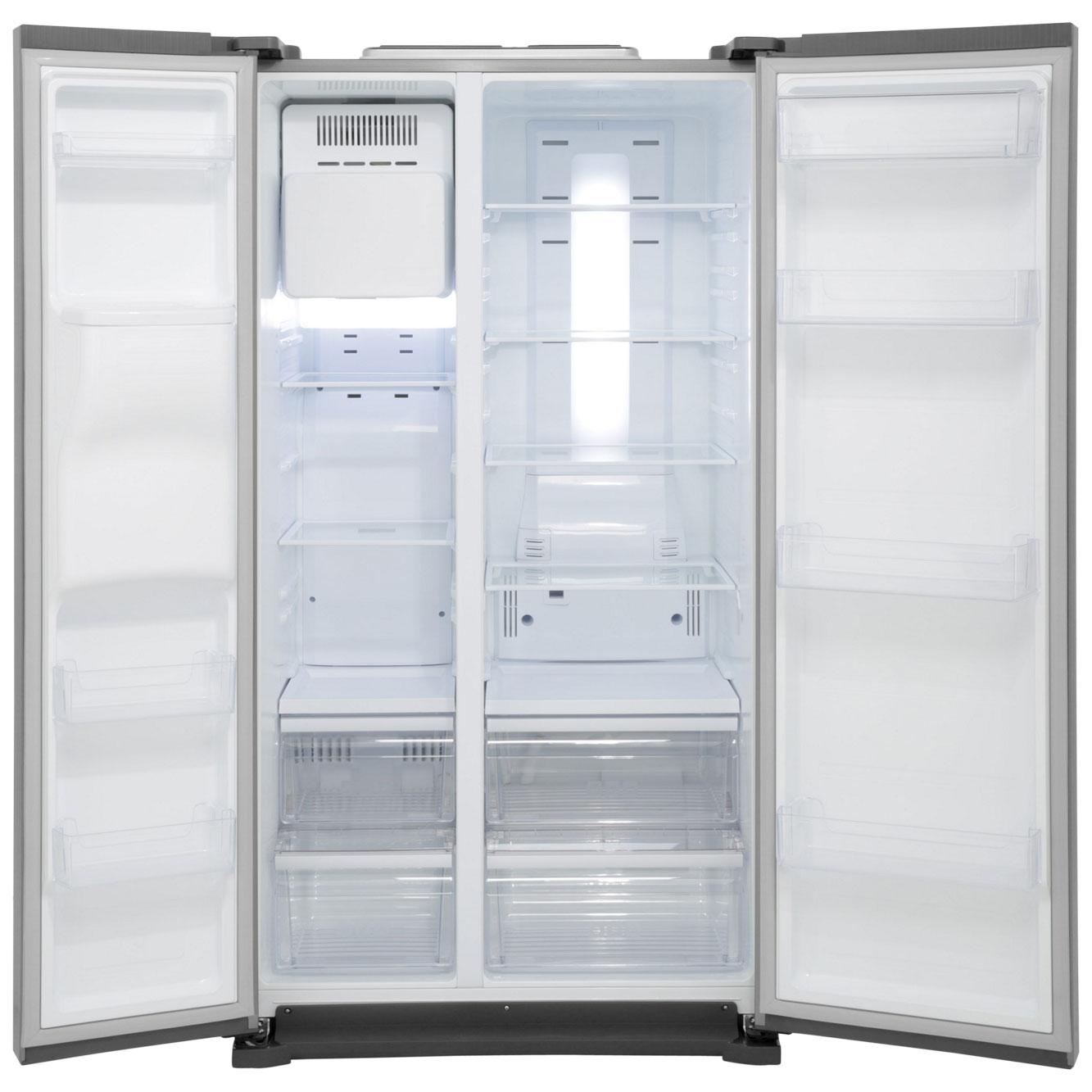 Samsung American Freezer Part - 29: Samsung H-Series RS7567BHCBC American Fridge Freezer - Black Gloss