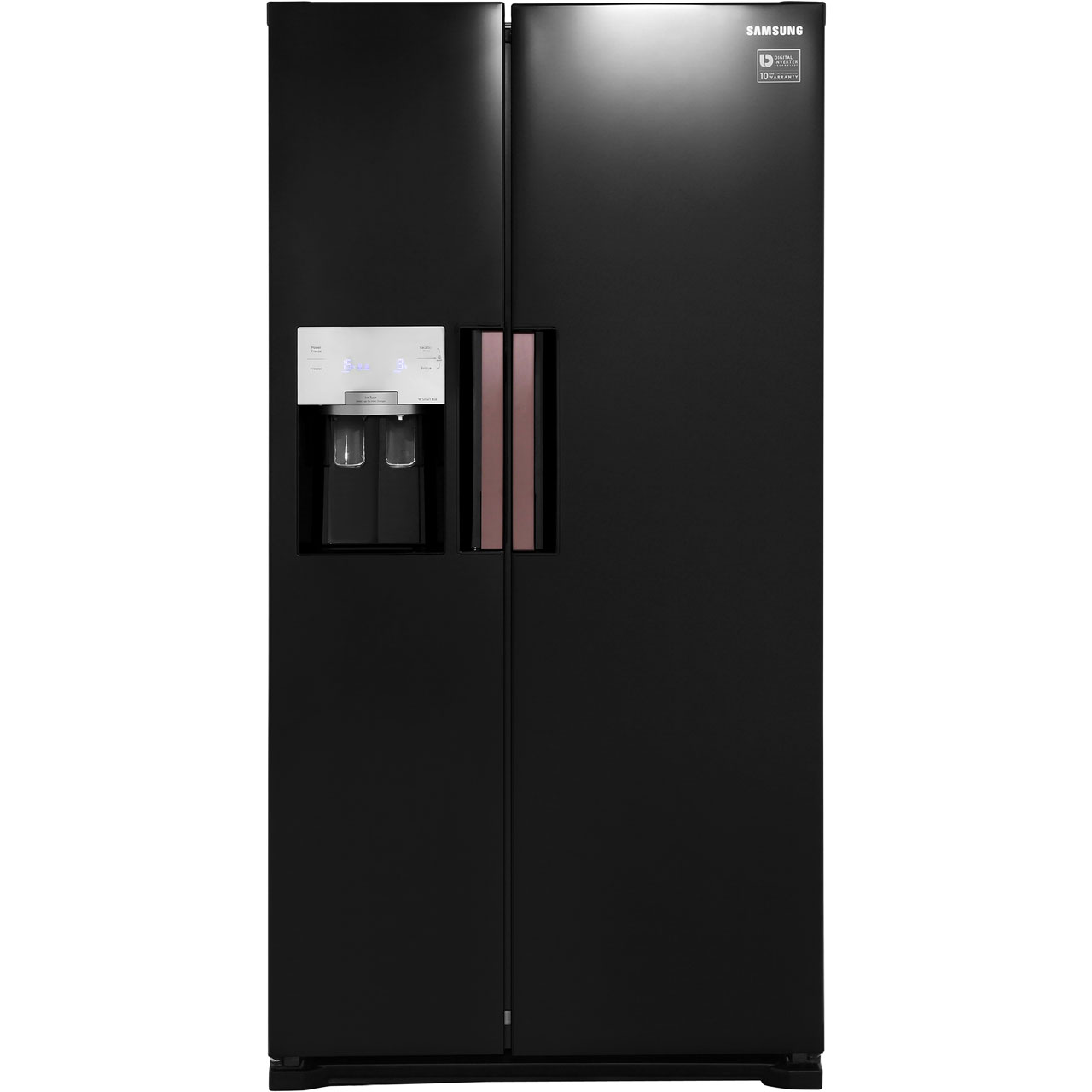 Samsung HSeries RS7667FHCBC Free Standing American Fridge Freezer in Black Gloss