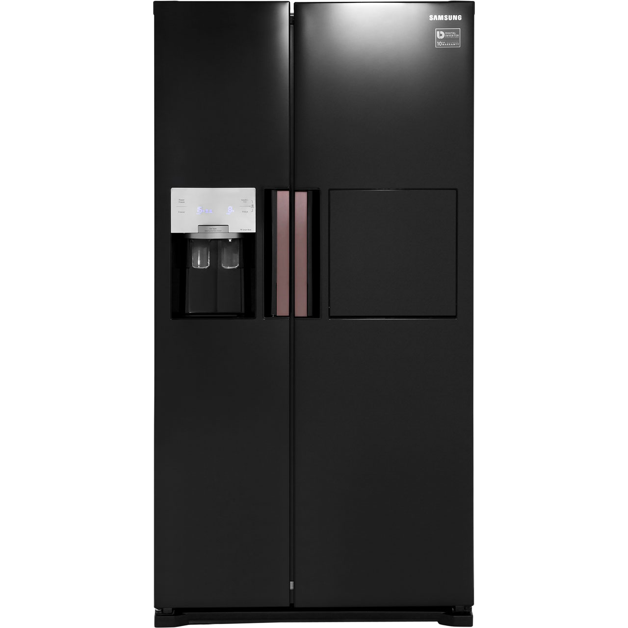 Samsung HSeries RS7677FHCBC Free Standing American Fridge Freezer in Black Gloss