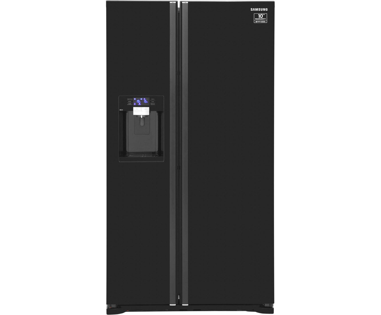 Samsung GSeries RSG5MUBP1X Free Standing American Fridge Freezer in Black Gloss