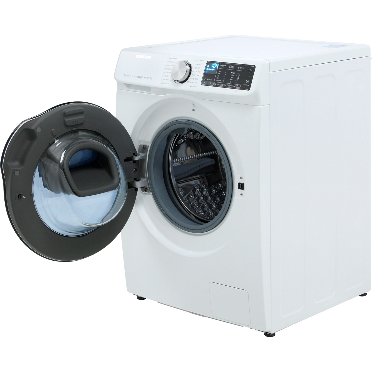 samsung quickdrive wd80n645oow washer dryer white. Black Bedroom Furniture Sets. Home Design Ideas