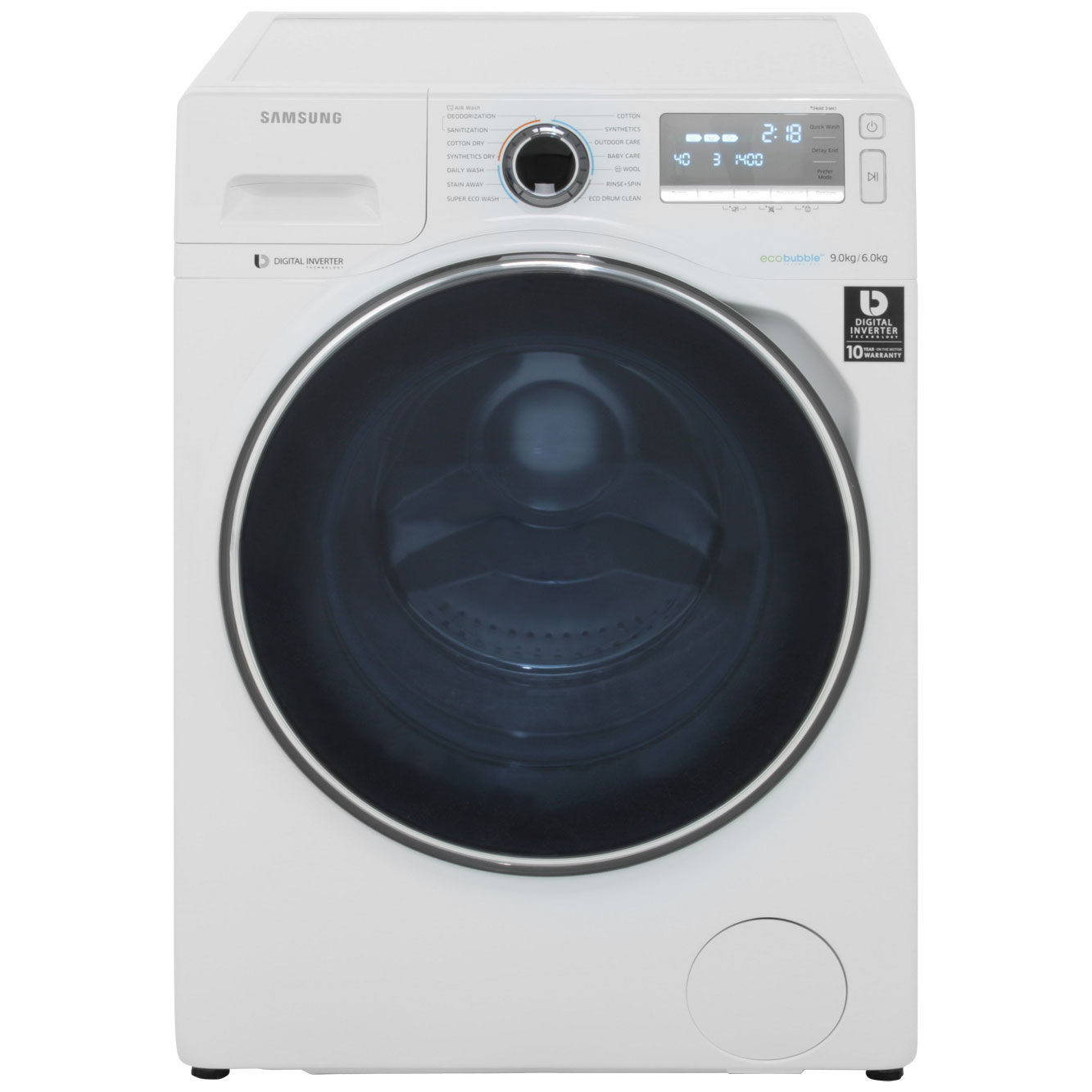 Samsung Ecobubble WD90J7400GW 9Kg / 6Kg Washer Dryer with 1400 rpm - White