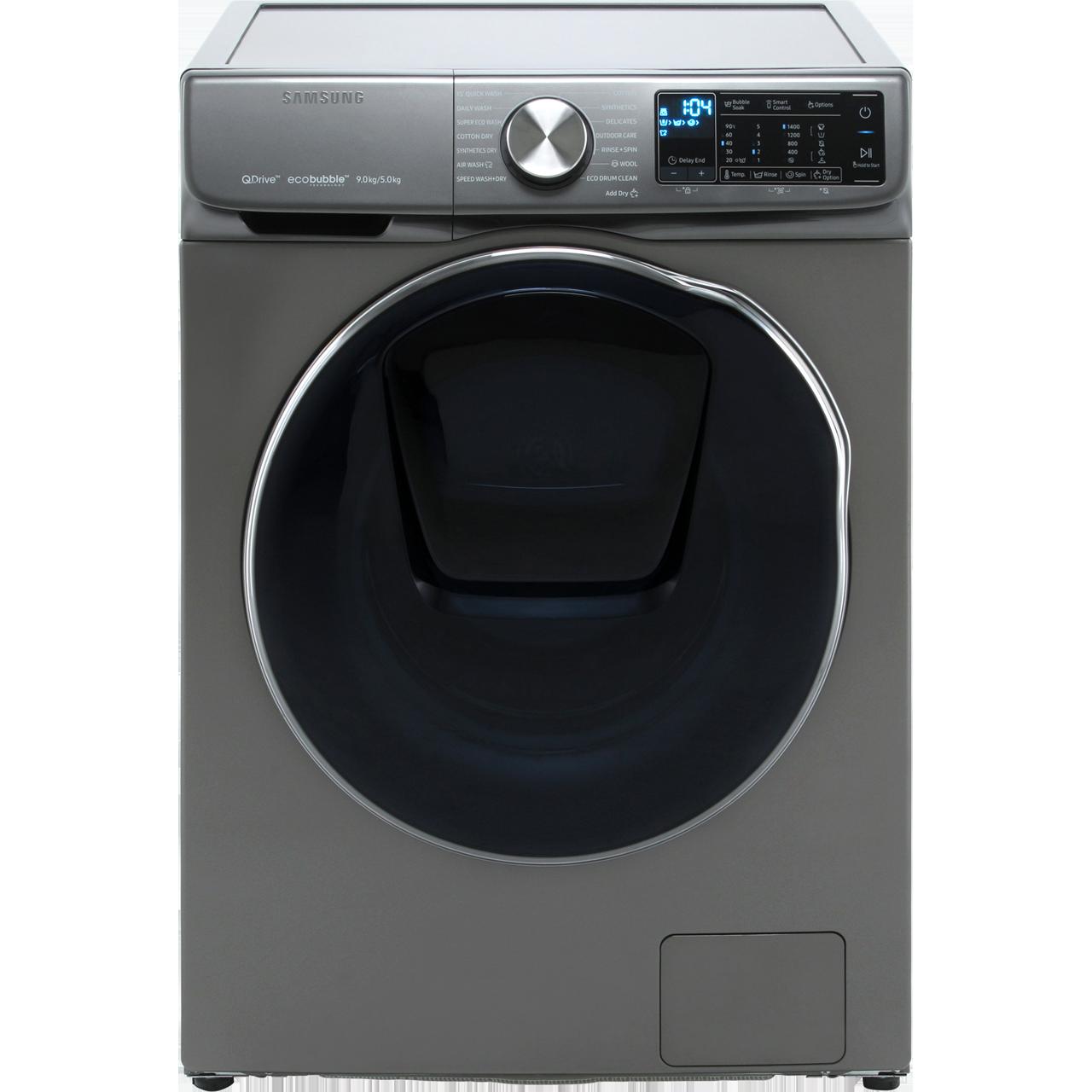 samsung quickdrive wd90n645oox washer dryer graphite. Black Bedroom Furniture Sets. Home Design Ideas