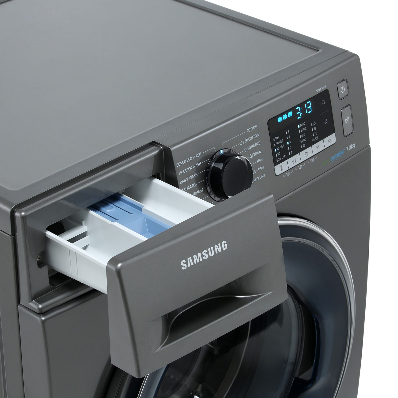 Samsung ecobubble™ WW70J5555FX 7Kg Washing Machine with 1400 rpm - Graphite  - A+++ Rated