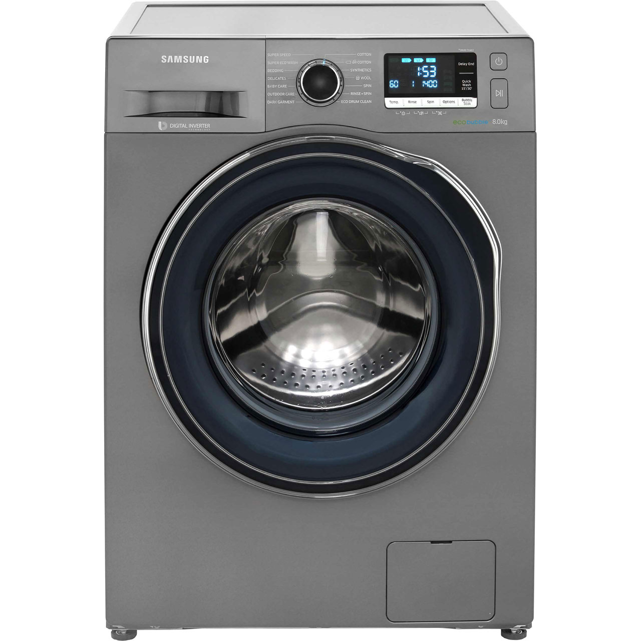 Samsung ecobubble™ WW80J6410CX 8Kg Washing Machine with 1400 rpm - Graphite  - A+++ Rated