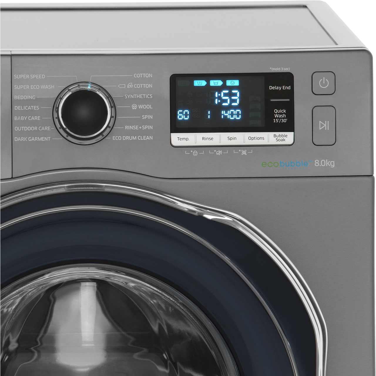 Samsung Ecobubble Ww80j6410cx 8kg Washing Machine With 1400 Rpm