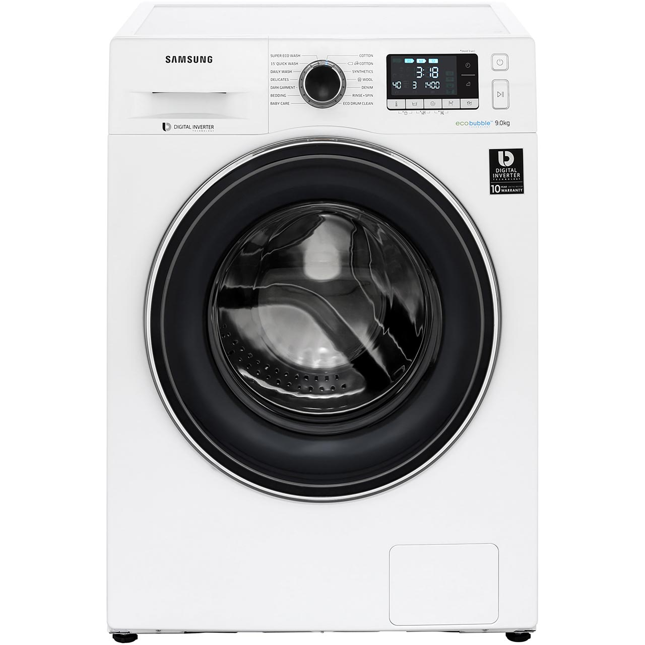 Samsung Ww90j5456fw Ecobubble U2122 A    Rated 9kg 1400 Rpm