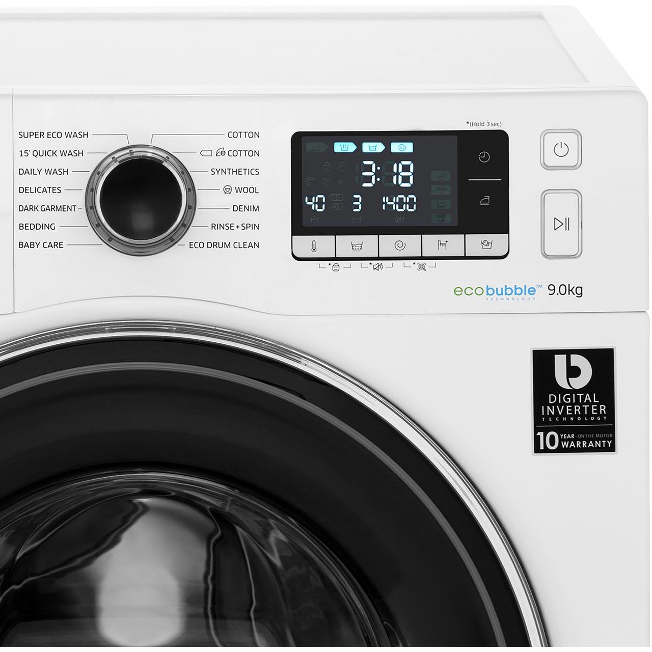 Samsung ecobubble™ WW90J5456FW Washing Machine - White
