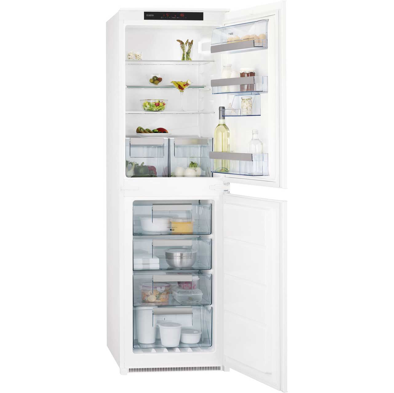 AEG SCN71800S1 Integrated 50/50 Frost Free Fridge Freezer - White