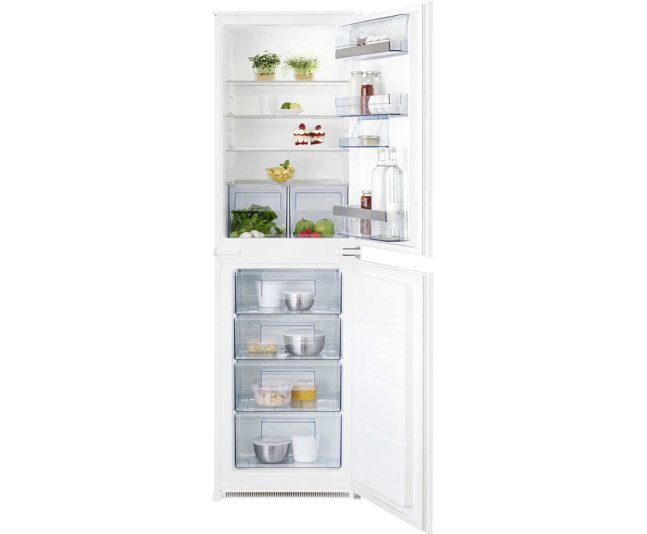 AEG Santo SCS51813S1 Integrated Fridge Freezer in White