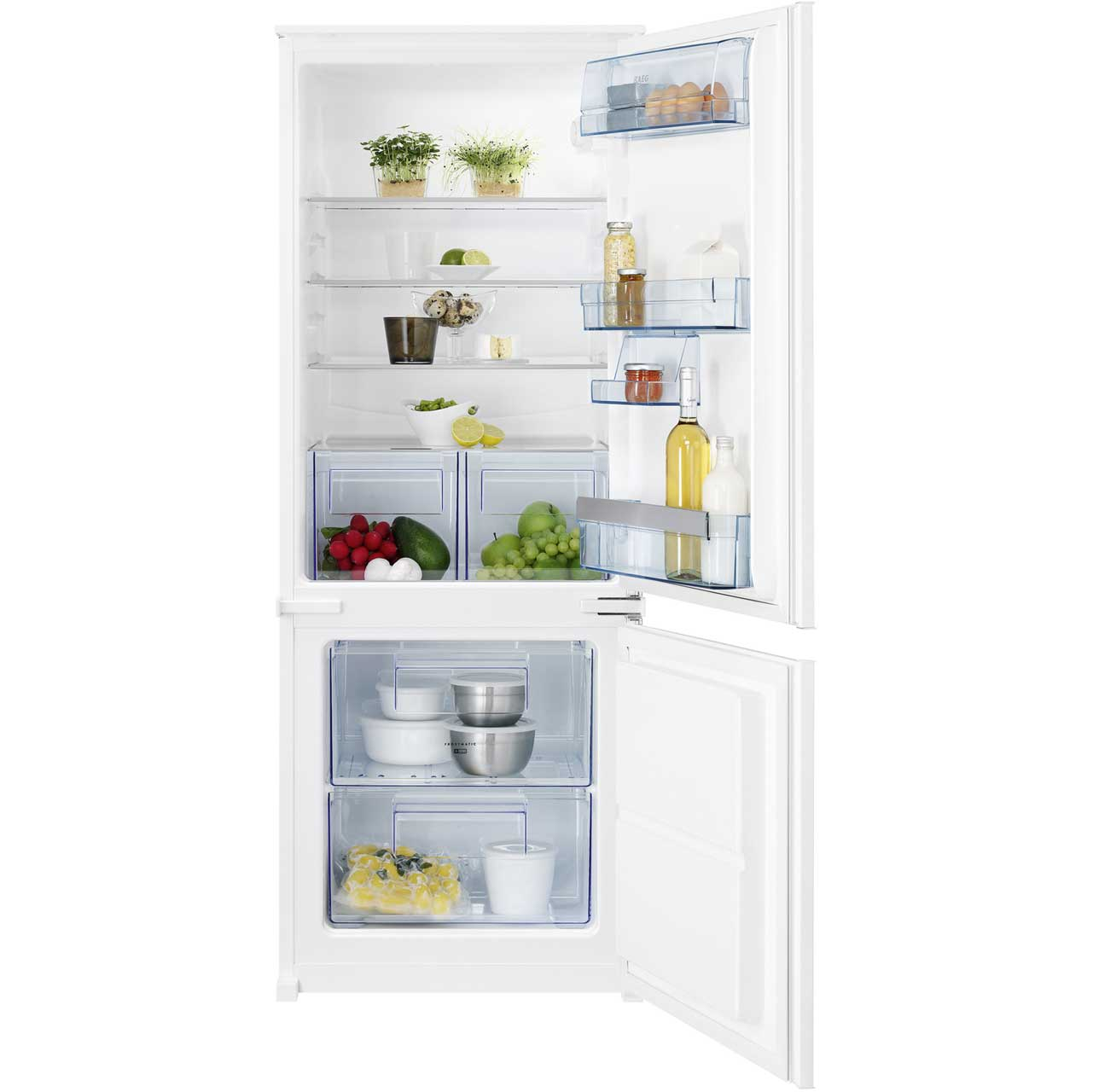AEG SCS61400S2 Integrated Fridge Freezer in White
