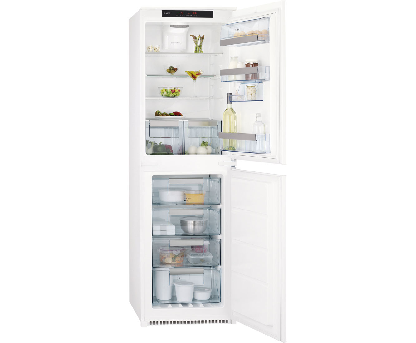 AEG Santo SCT81800S0 Integrated 50/50 Frost Free Fridge Freezer - White