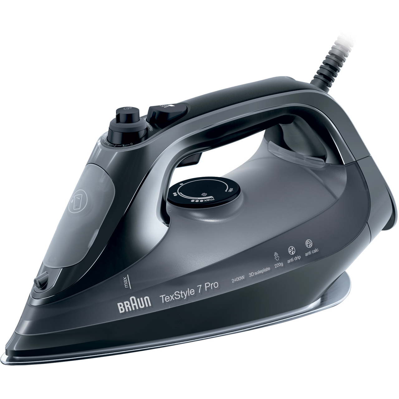 Braun SI7042BK 2400 Watt Steam Iron -Black
