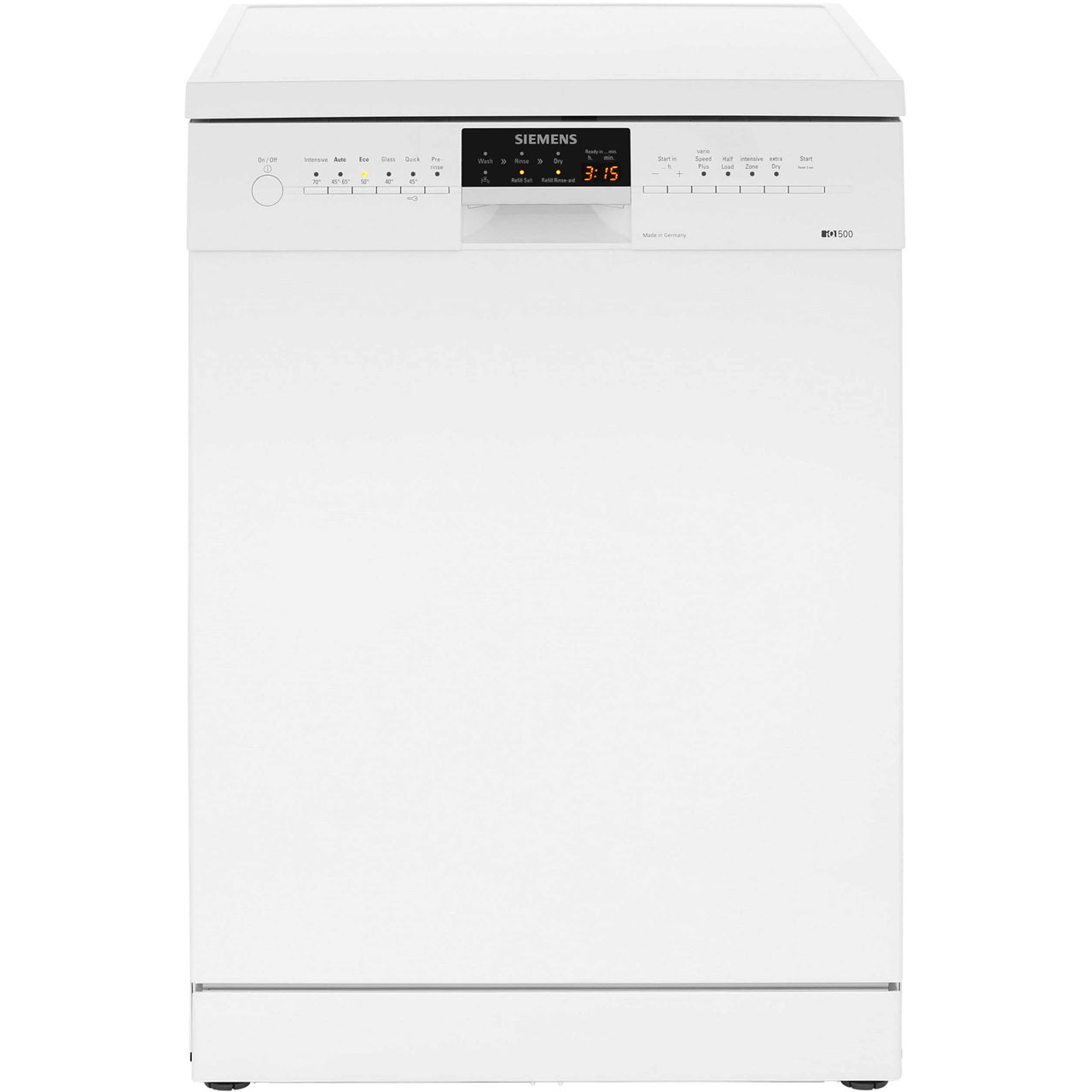 Siemens IQ-500 SN26M292GB Standard Dishwasher - White