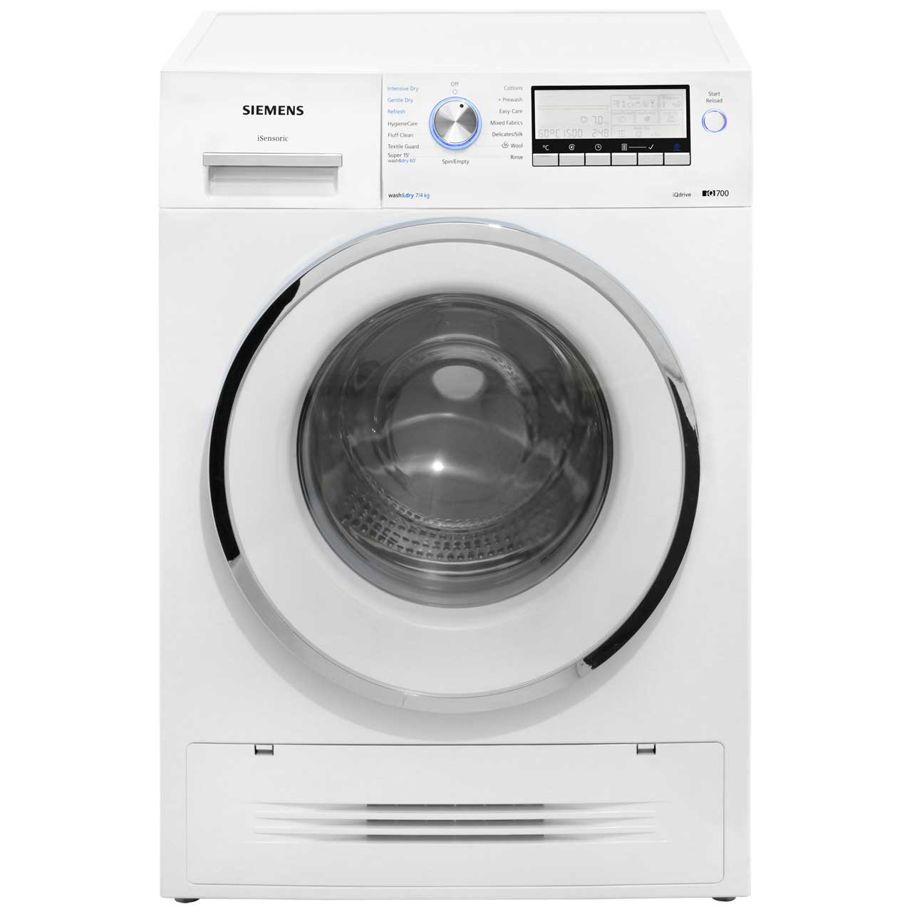 siemens iq 700 wd15h520gb 7kg 4kg washer dryer with 1500. Black Bedroom Furniture Sets. Home Design Ideas
