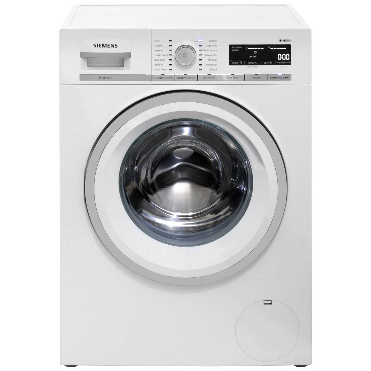 Image of Siemens IQ-500 WM14W590GB Free Standing Washing Machine in White