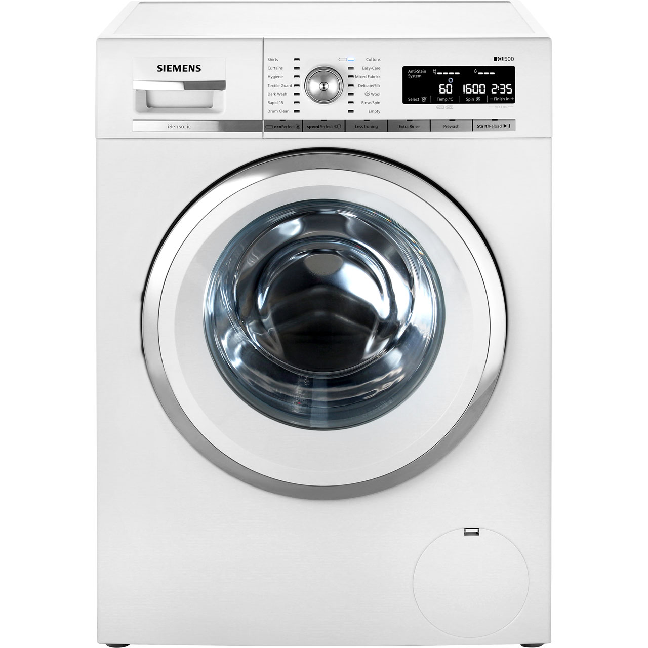 Image of Siemens IQ-500 WM16W590GB Free Standing Washing Machine in White