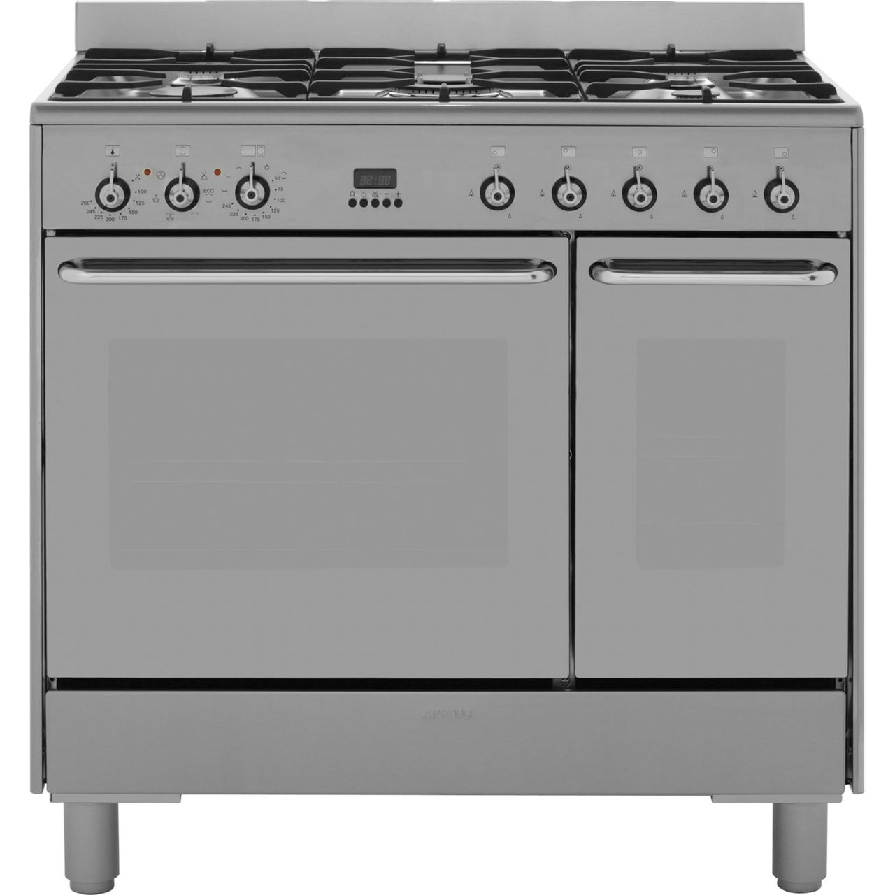 Smeg c92dx8 dual fuel range cooker stainless steel