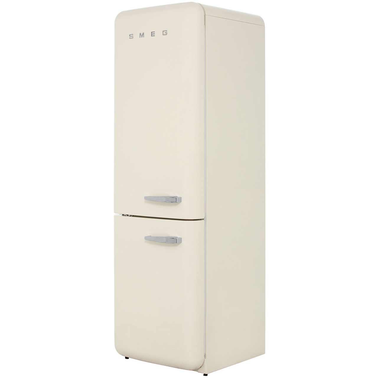 Smeg Left Hand Hinge FAB32LNC Free Standing Fridge Freezer Frost Free in Cream