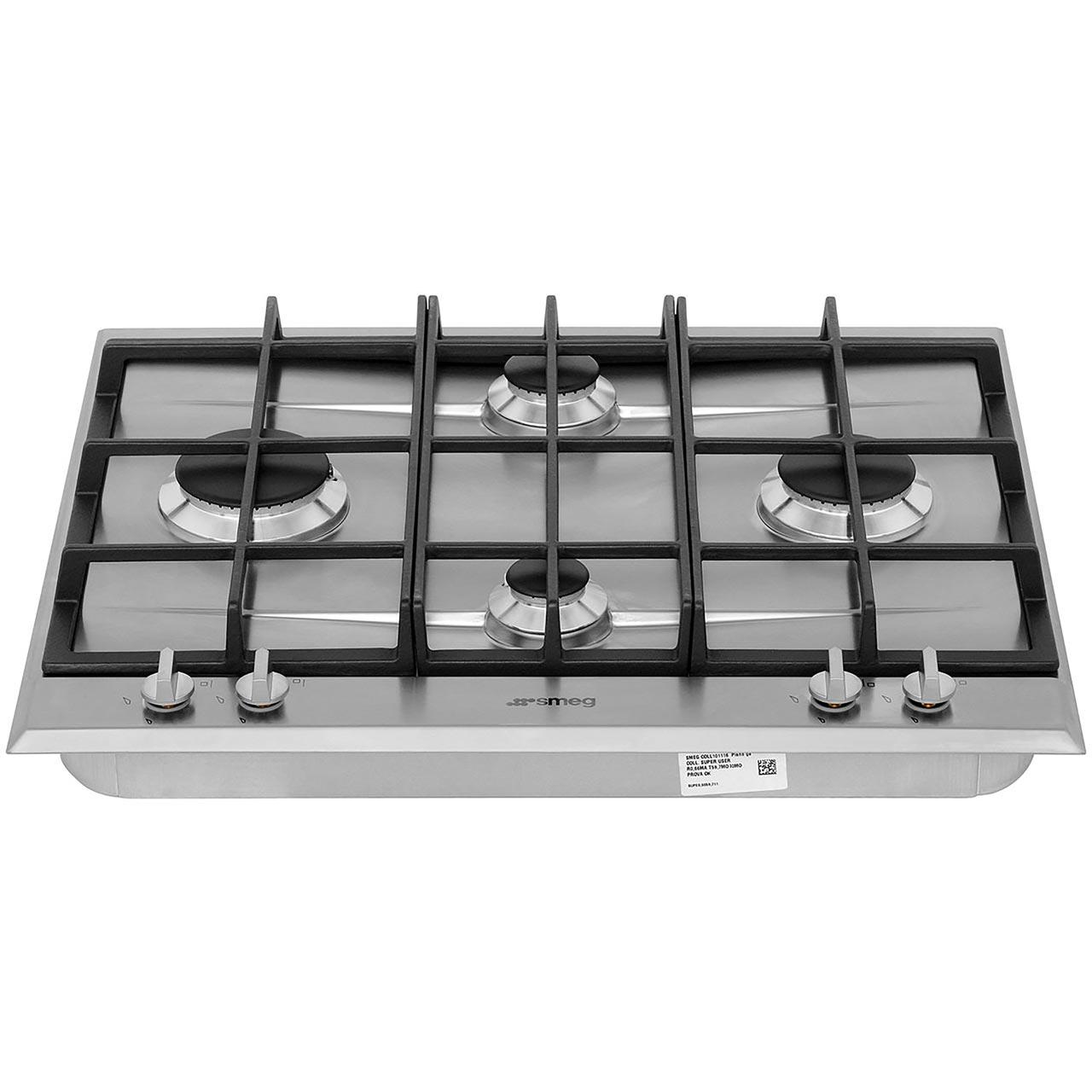 Smeg cucina p260xgh 60cm gas hob stainless steel - Smeg cucina gas ...