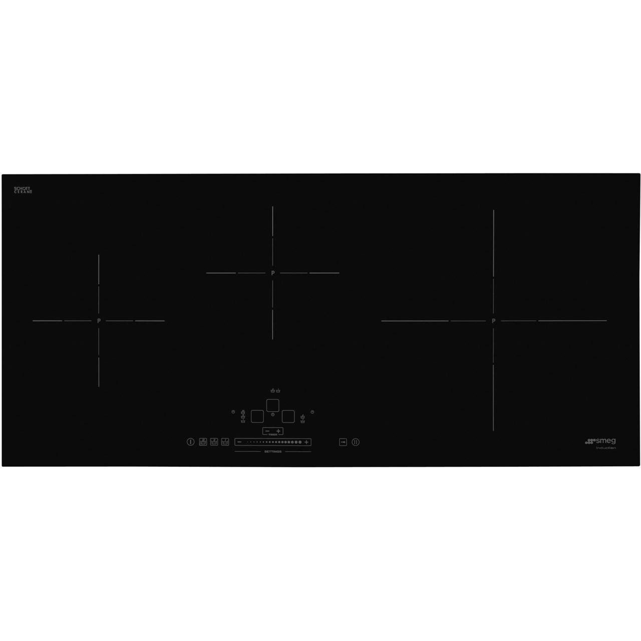 Sih5935b Bk Smeg Induction Hob 3 Zones 86cm Cooker Circuit Diagram As Well Wiring Also Air