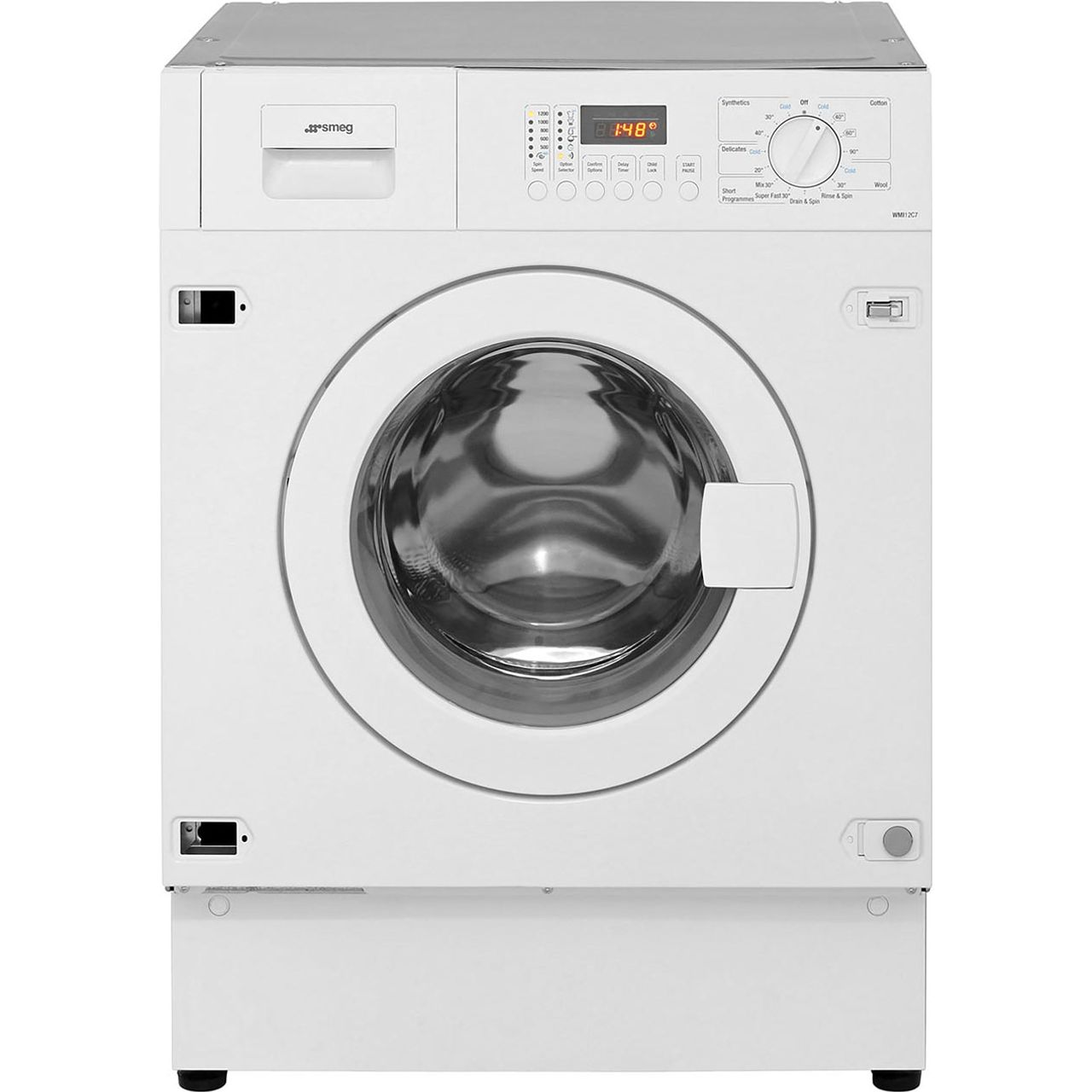 this smeg integrated washing machine has a 7kg drum a energy