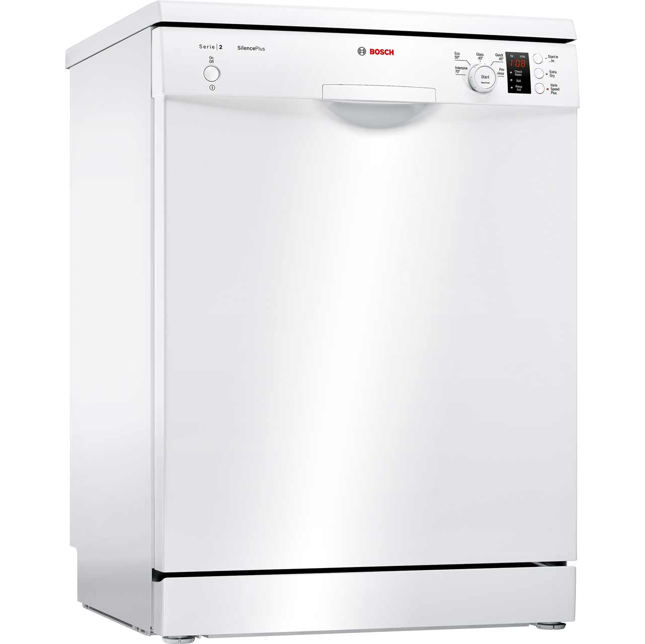 sms25aw00g wh bosch serie 2 dishwasher white. Black Bedroom Furniture Sets. Home Design Ideas