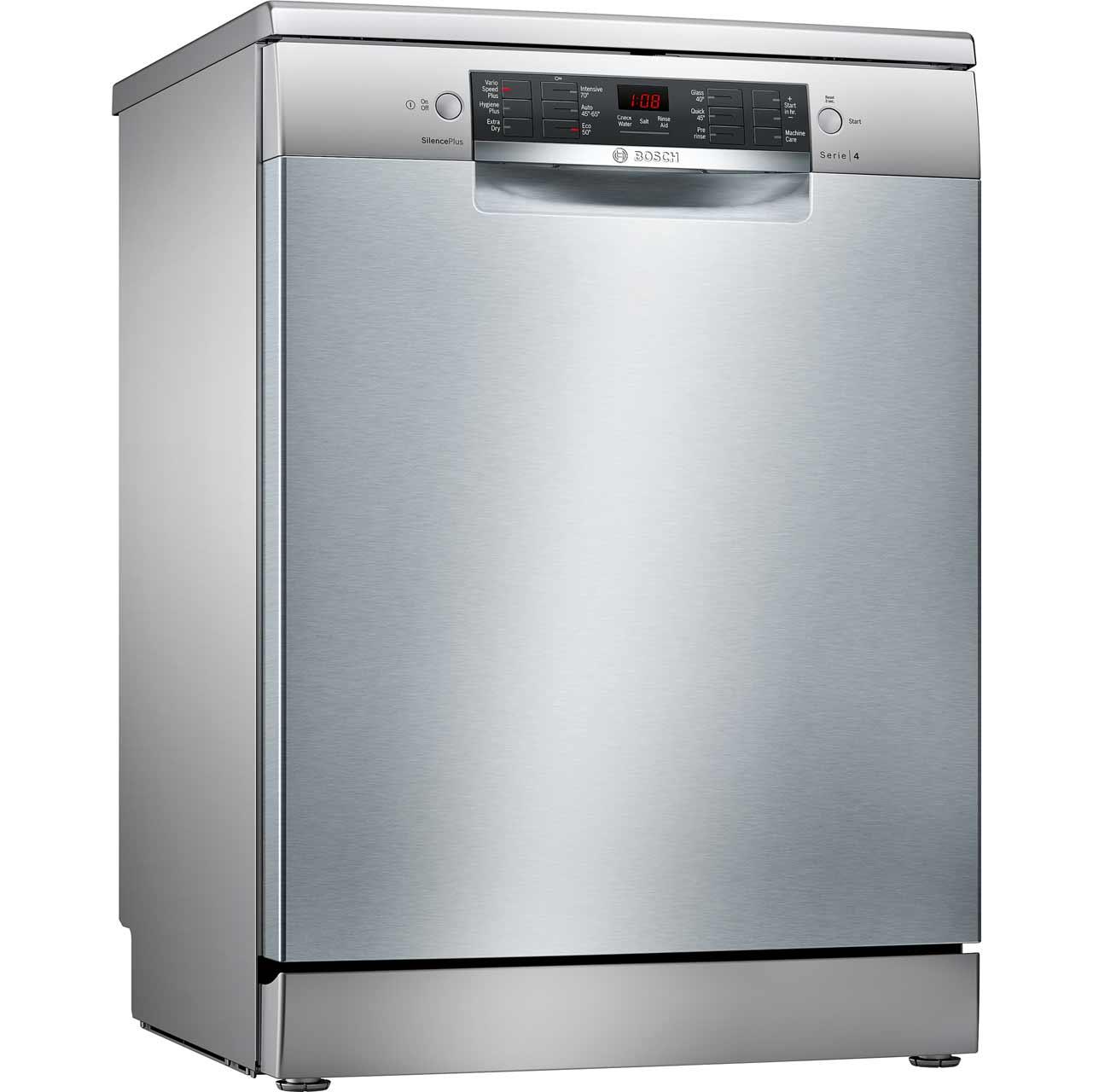 SMS46II00G_SI | Bosch Serie 6 Dishwasher | Silver | ao.com