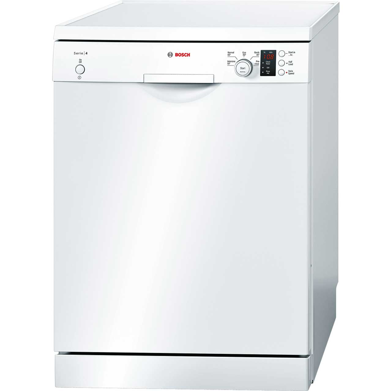 bosch serie 4 sms50c22gb standard dishwasher white 96927. Black Bedroom Furniture Sets. Home Design Ideas