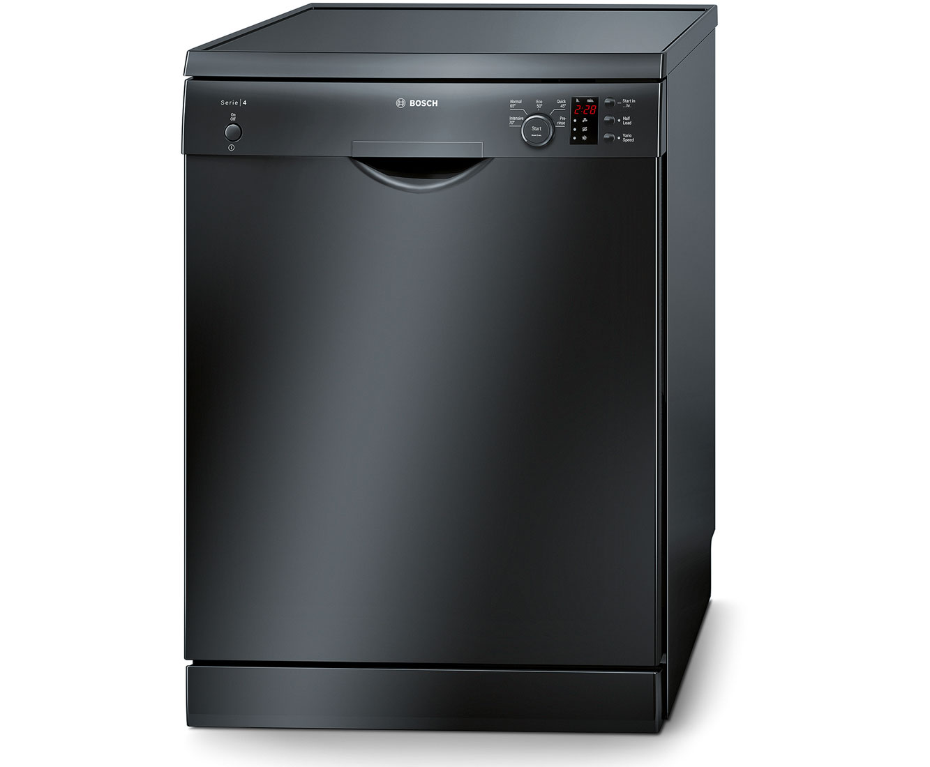 Bosch Serie 4 SMS50C26UK Free Standing Dishwasher in Black