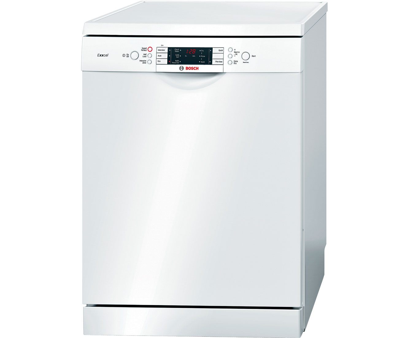Bosch Exxcel SMS58E22GB Standard Dishwasher - White