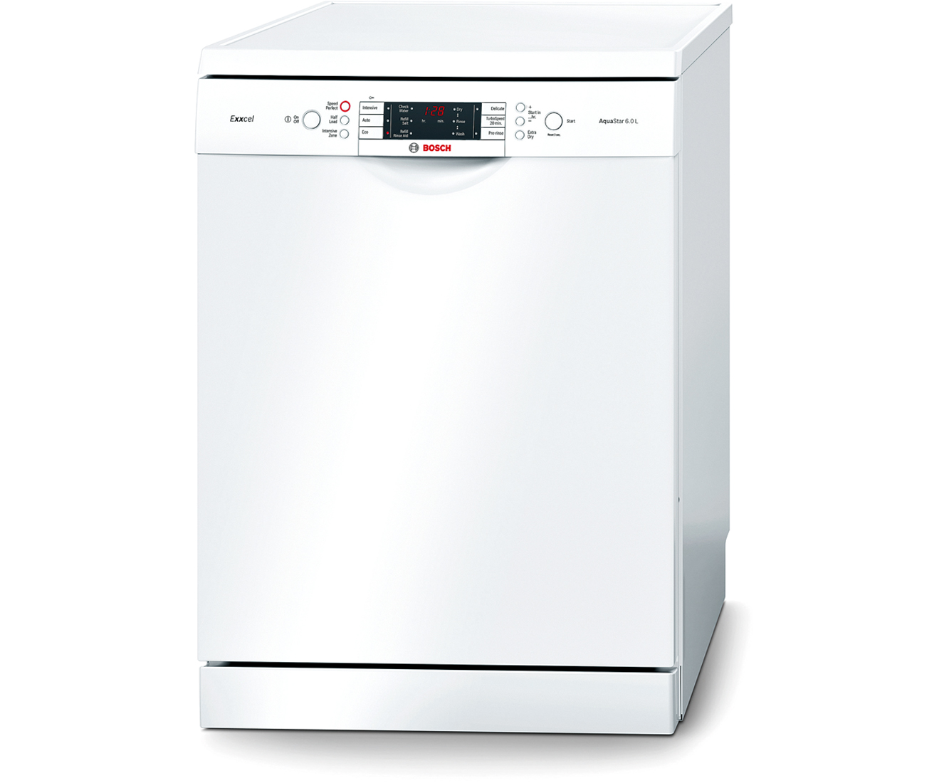 Bosch Exxcel SMS65E32GB Standard Dishwasher - White