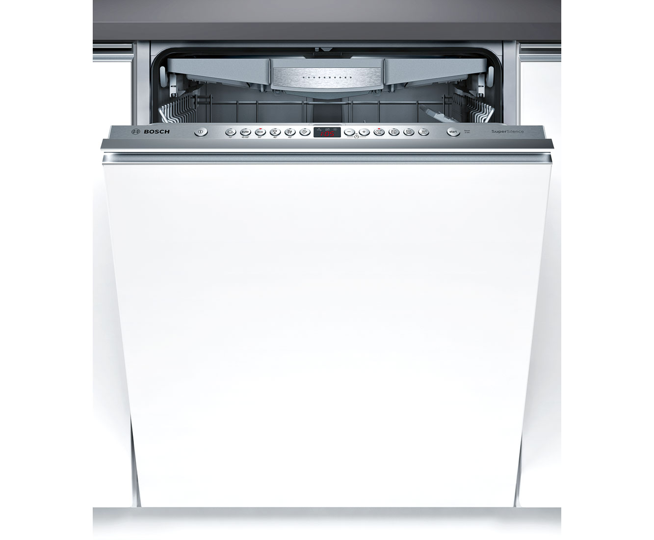 Bosch Serie 6 SMV69M01GB Integrated Dishwasher in Brushed Steel