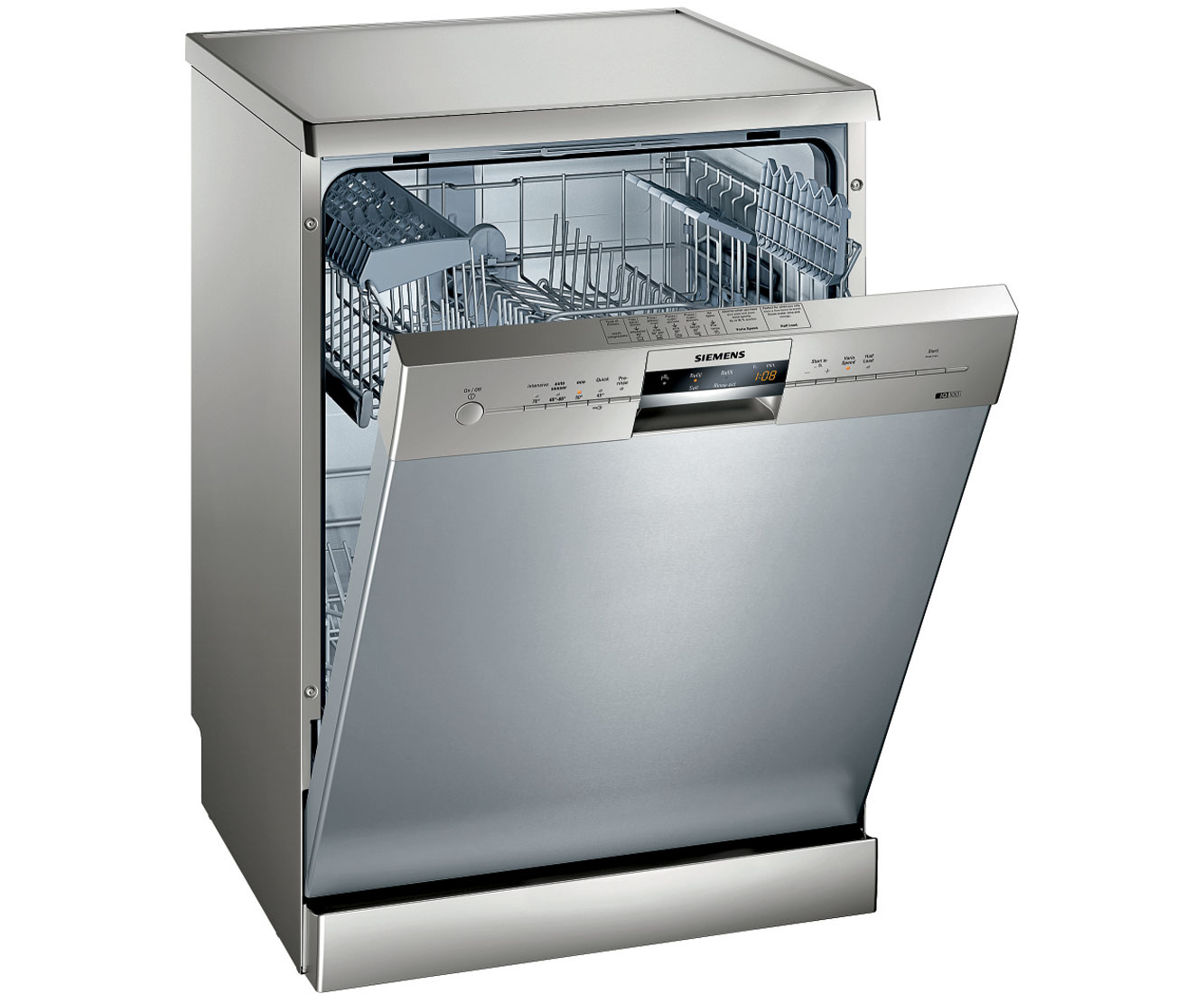 Siemens IQ-100 SN25M831GB Standard Dishwasher - Stainless Steel