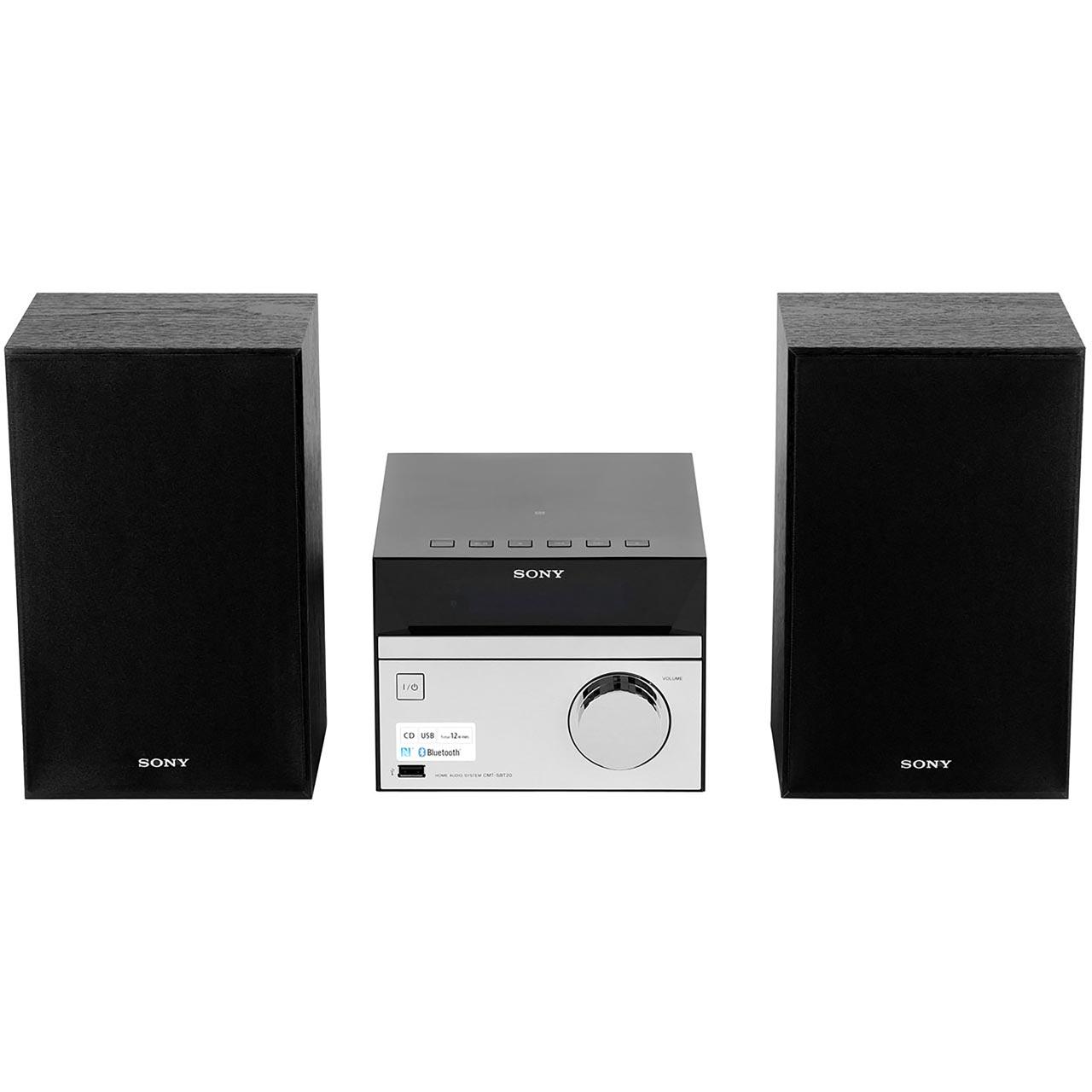 Sony CMT-SBT20 12 Watt Mini Hi-Fi System Bluetooth Hi-Fi System Black New From 4548736027510