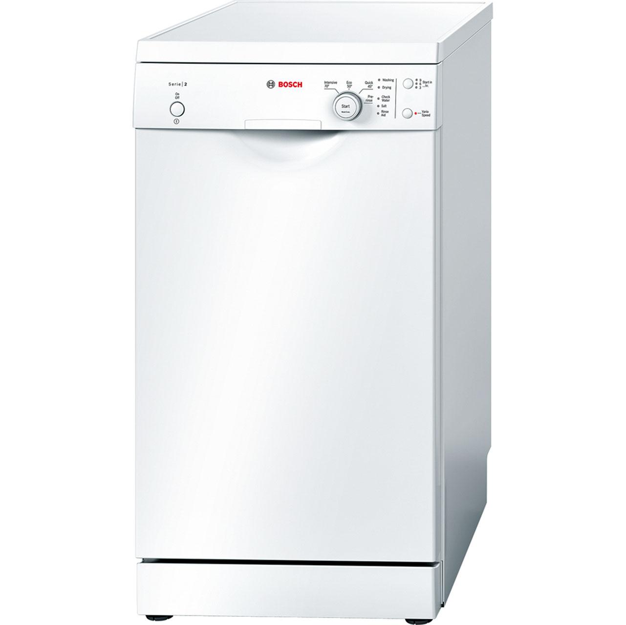 Image of Bosch Serie 2 SPS40E32GB Free Standing Slimline Dishwasher in White