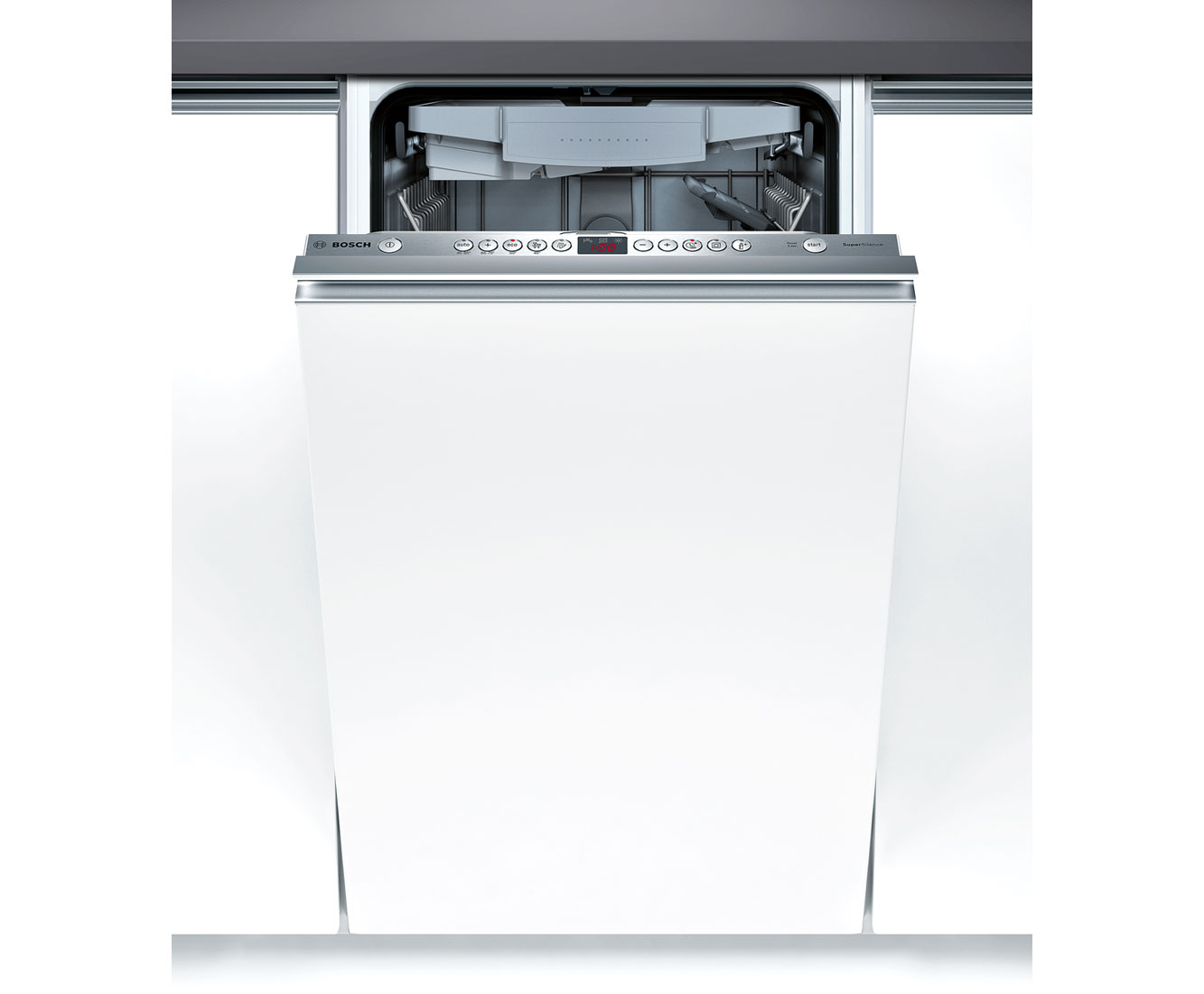 Bosch Serie 6 SPV69T00GB Integrated Slimline Dishwasher in Brushed Steel