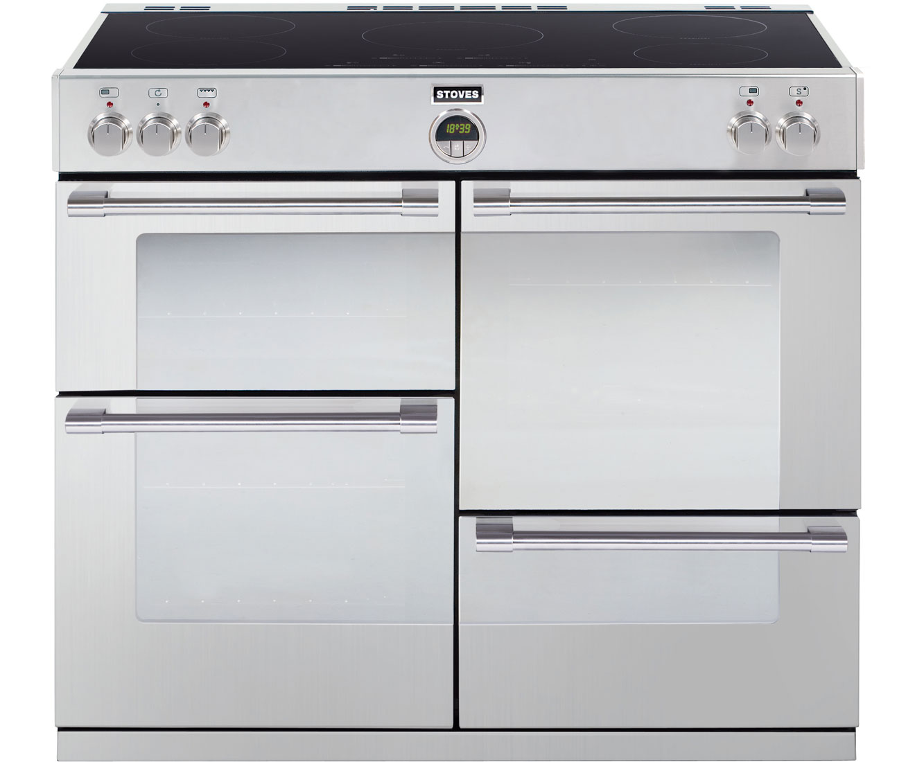 Stoves STERLING1100Ei 110cm Electric Range Cooker with Induction Hob - Stainless Steel