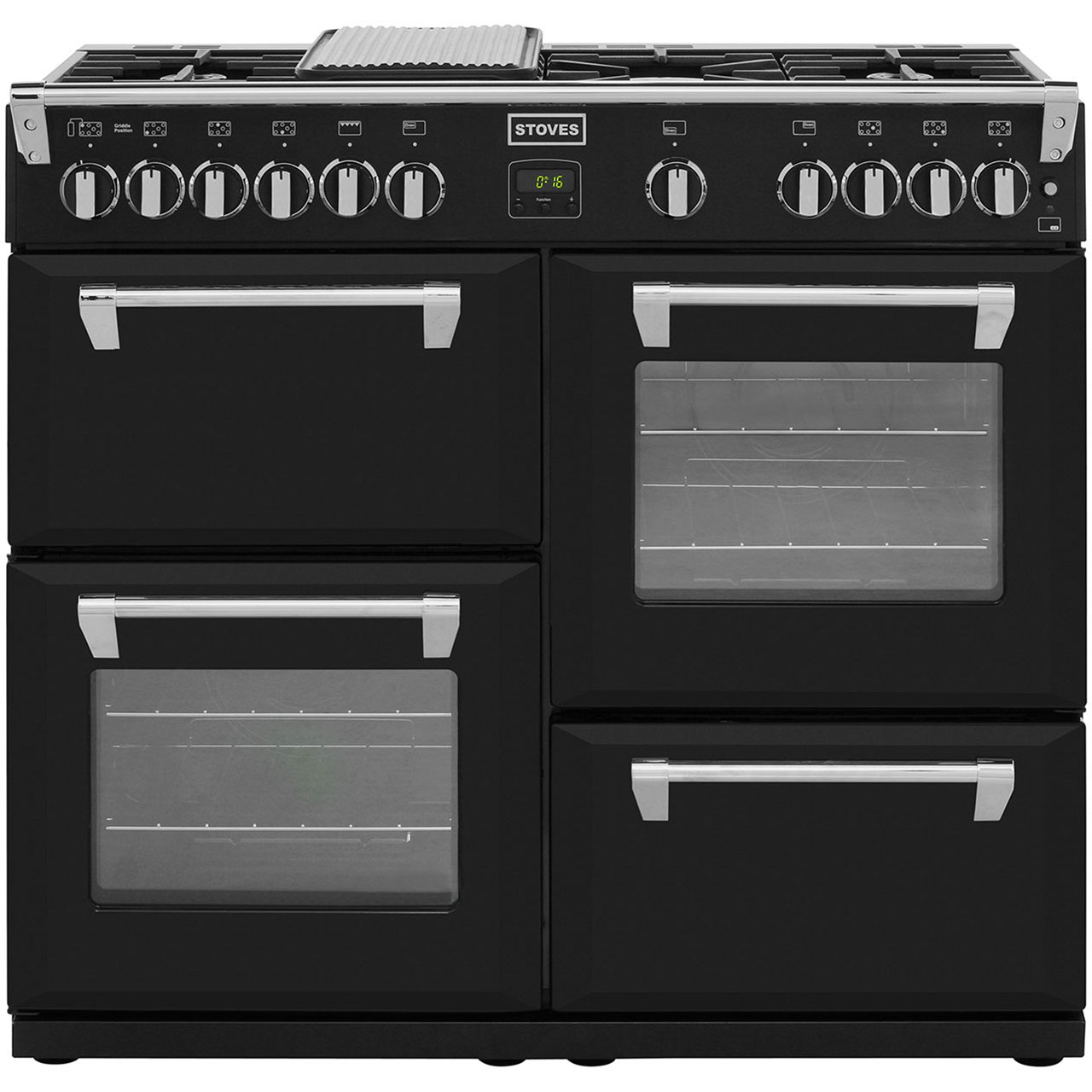 Stoves RICHMOND1000GT 100cm Gas Range Cooker with Electric Grill - Black
