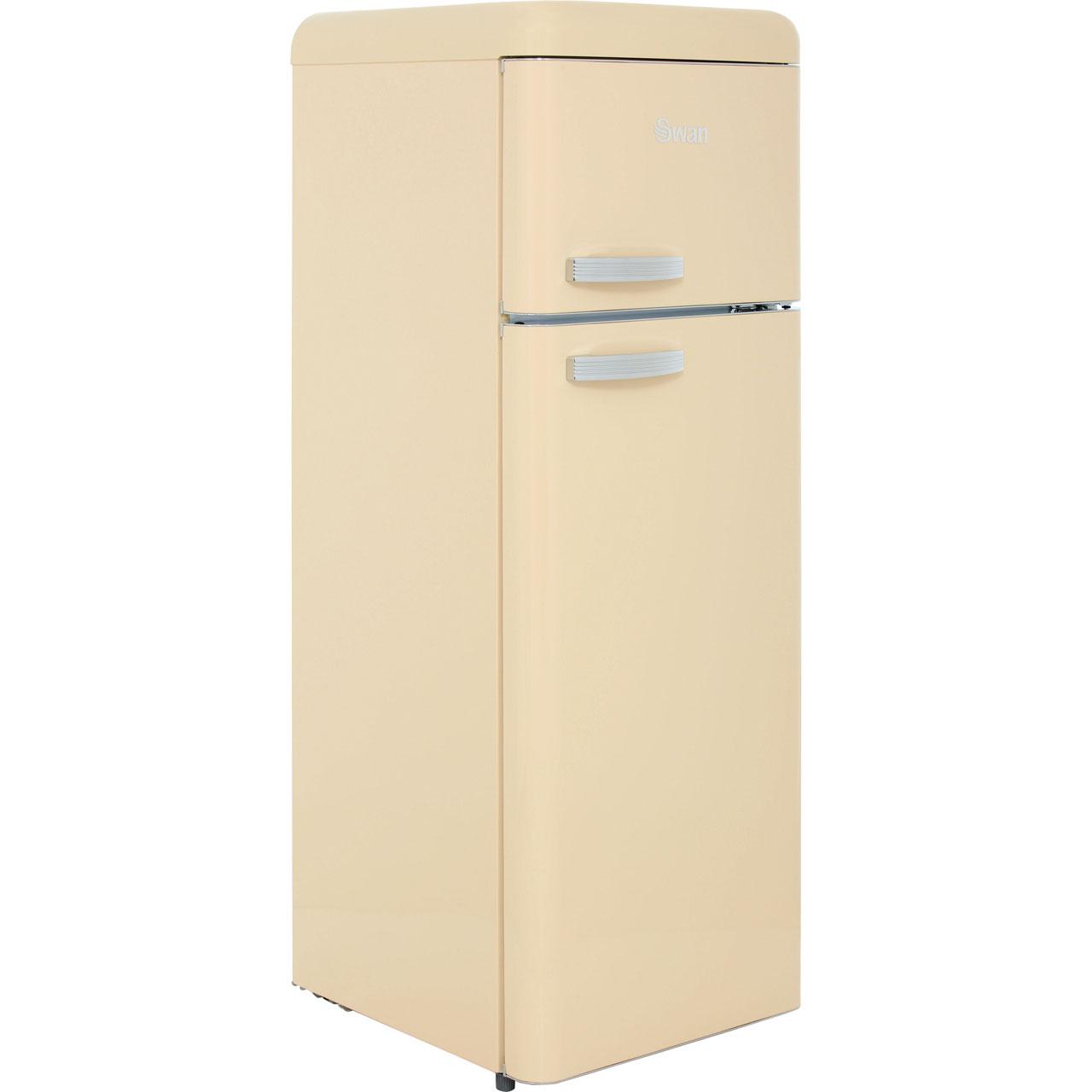 Swan Retro SR11010CN Free Standing Fridge Freezer in Cream