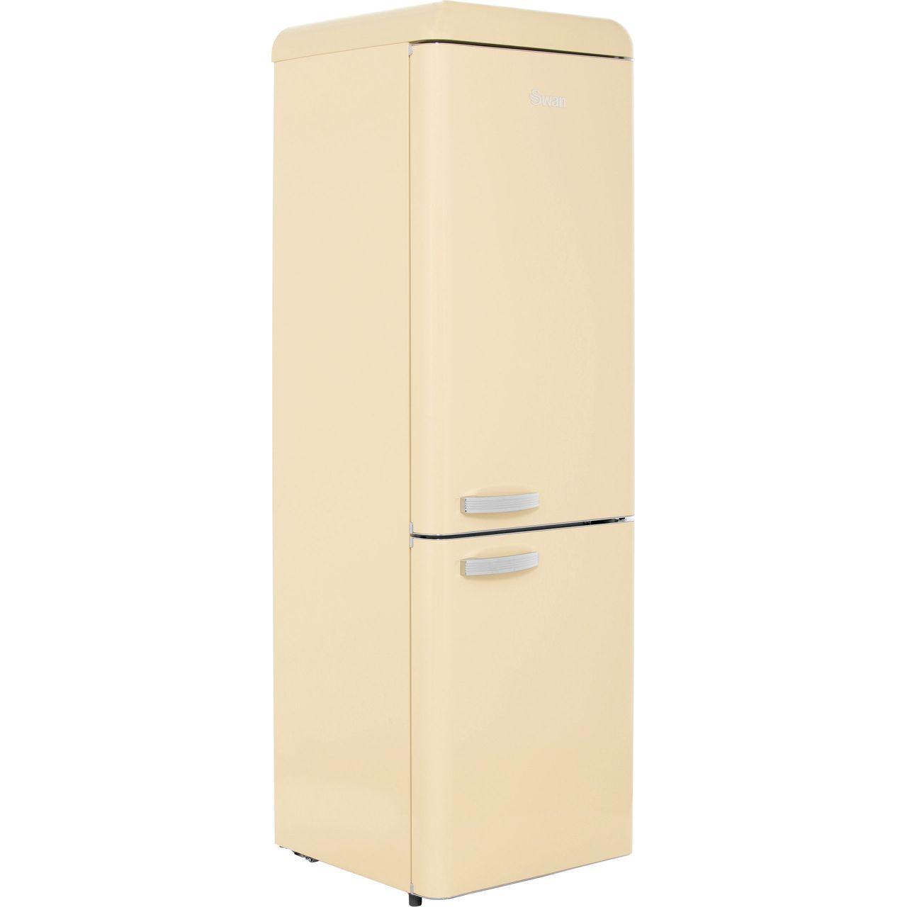 Swan Retro SR11020CN Free Standing Fridge Freezer in Cream