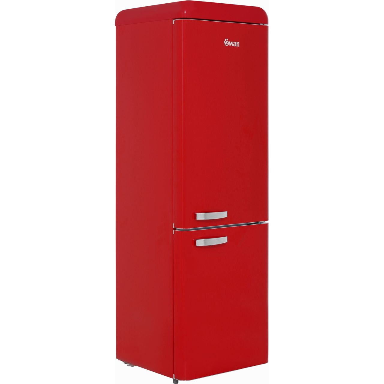 Swan Retro SR11020RN Free Standing Fridge Freezer in Red