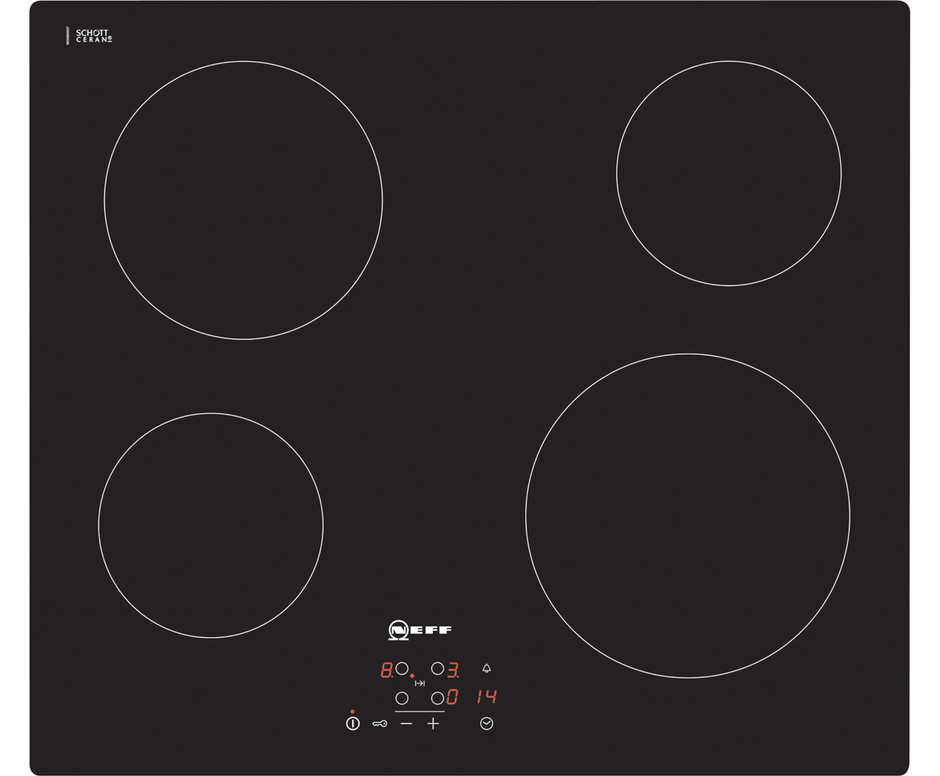 neff n50 t10b40x2 59cm ceramic hob black rh ao com Ceramic Burner Hob neff ceramic hob instruction manual