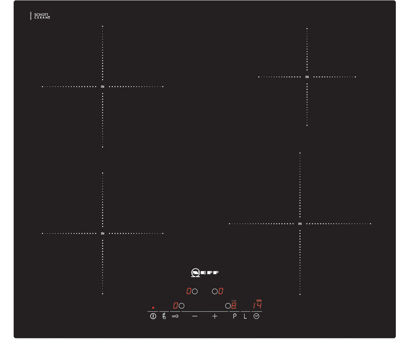 Neff T41D40X2 Integrated Electric Hob in Black