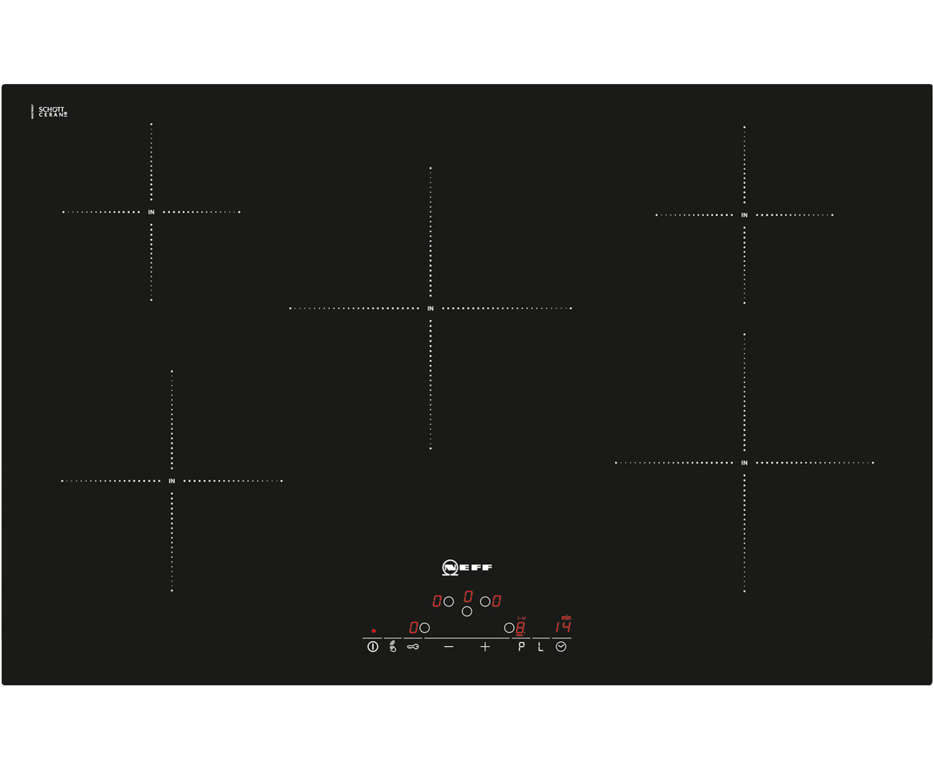 Neff T45D82X2 Integrated Electric Hob in Black