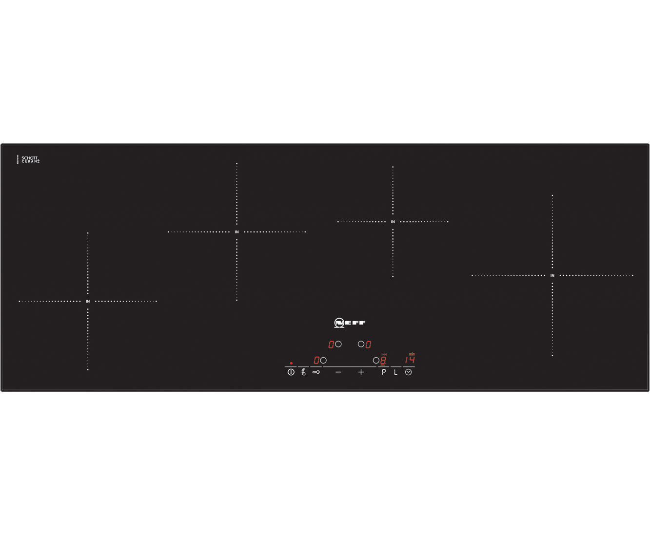 Neff T45D90X2 Integrated Electric Hob in Black