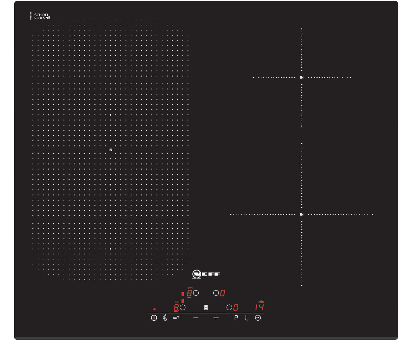 Neff T51D53X2 Integrated Electric Hob in Black