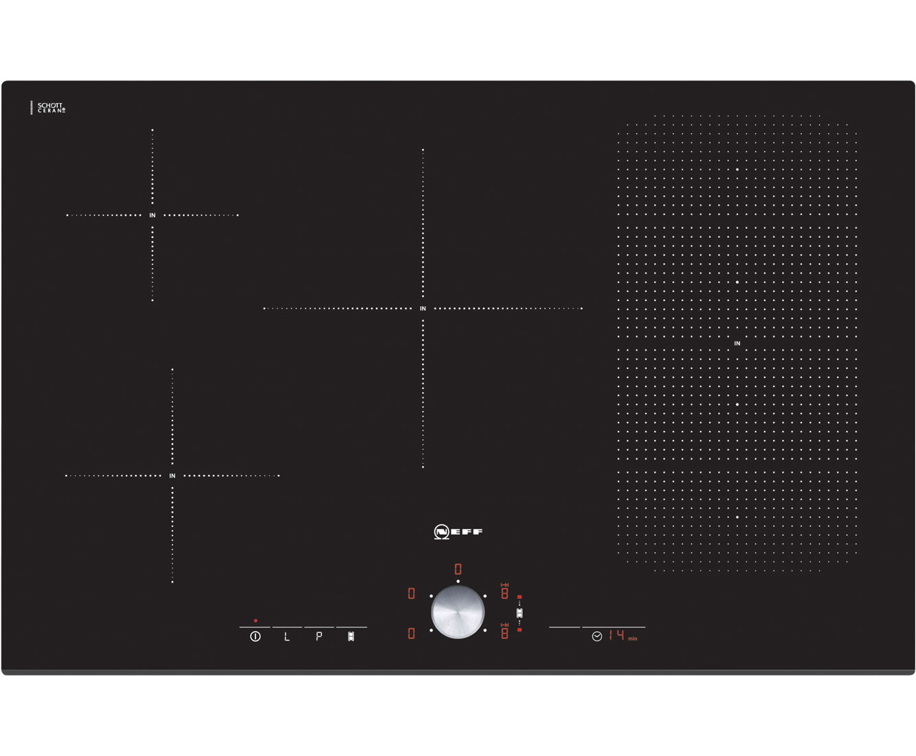 Neff T51T86X2 Integrated Electric Hob in Black