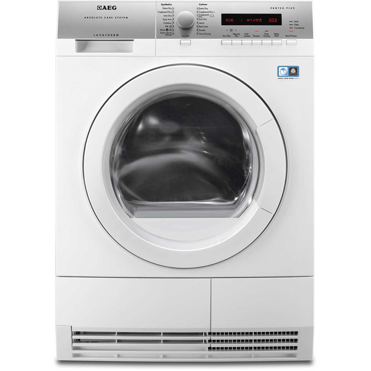 AEG Lavatherm T76781IH1 Free Standing Condenser Tumble Dryer in White
